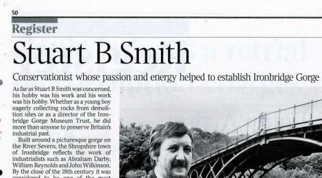 Times Obituary Stuart B  Smith – TICCIH