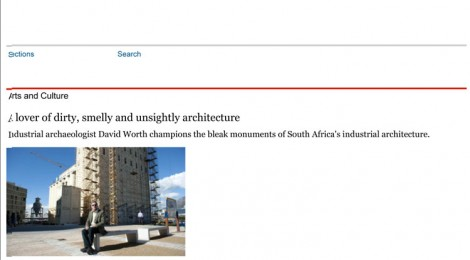 Article about TICCIH Board Member, David Worth in Mail & Guardian