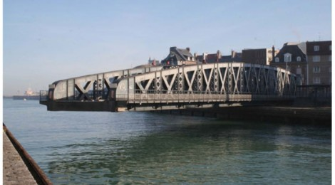 INDUSTRIAL HERITAGE ALERT - Dieppe, France - Pont Colbert (Colbert swing bridge) will shortly be demolished and replaced