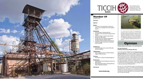 TICCIH BULLETIN NUMBER 69, 3RD QUARTER 2015 PUBLISHED